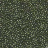 Miyuki Japanese Seed Beads Size 11° Dyed Olive Green 10 grams approx. for beadwork and craft